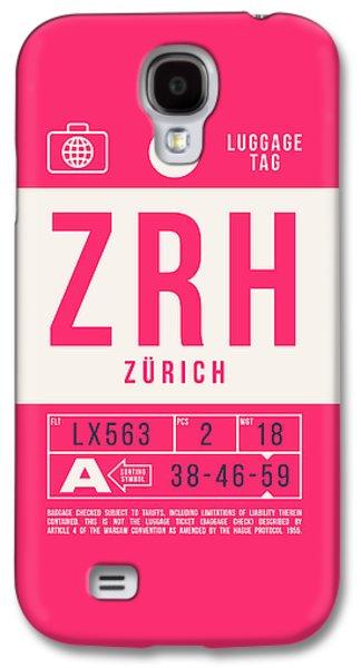 International Travel Galaxy S4 Case - Retro Airline Luggage Tag 2.0 - Zrh Zurich International Airport Switzerland by Ivan Krpan