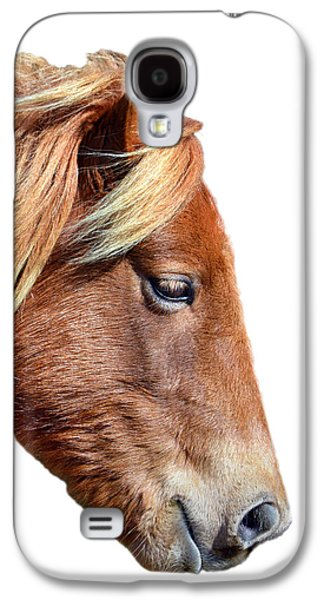 Galaxy S4 Case featuring the photograph Assateague Pony Sarah's Sweet On White by Bill Swartwout Fine Art Photography