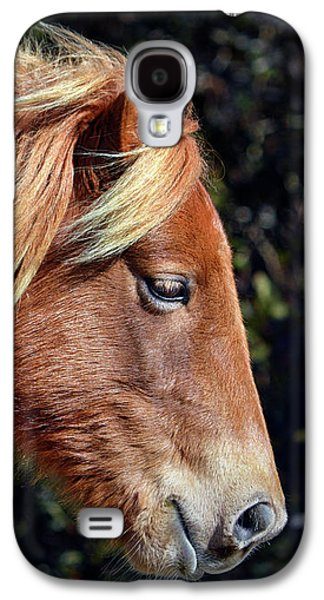 Galaxy S4 Case featuring the photograph Assateague Pony Sarah's Sweet Tea Profile by Bill Swartwout Fine Art Photography