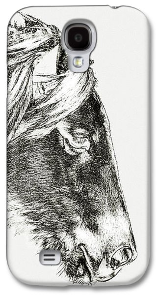 Galaxy S4 Case featuring the photograph Assateague Pony Sarah's Sweet Tea Sketch by Bill Swartwout Fine Art Photography