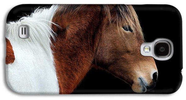 Galaxy S4 Case featuring the photograph Assateague Pony Susi Sole Portrait On Black by Bill Swartwout Fine Art Photography