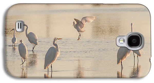 Ballet Of The Egrets Galaxy S4 Case