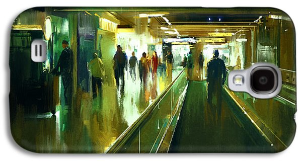 International Travel Galaxy S4 Case - Digital Painting Of People Walking In by Tithi Luadthong