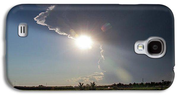 Nebraskasc Galaxy S4 Case - Dying Nebraska Thunderstorms At Sunset 002 by NebraskaSC