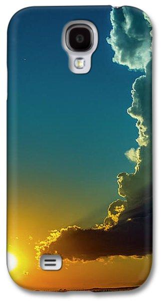Nebraskasc Galaxy S4 Case - Dying Nebraska Thunderstorms At Sunset 068 by NebraskaSC