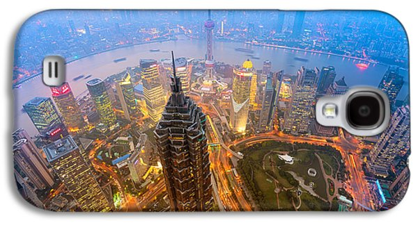 International Travel Galaxy S4 Case - Elevated Night View Of Shanghai`s by R.nagy