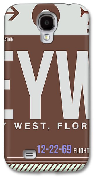 Travel Galaxy S4 Case - Eyw Key West Luggage Tag II by Naxart Studio