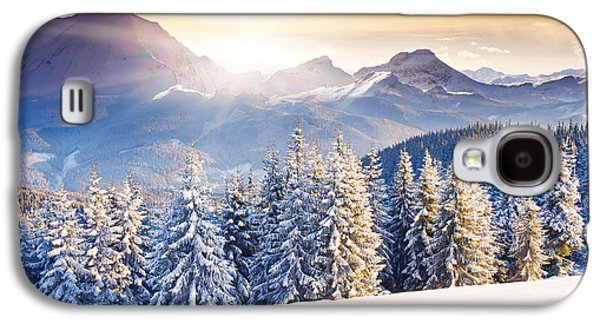 Travel Galaxy S4 Case - Fantastic Evening Winter Landscape by Creative Travel Projects