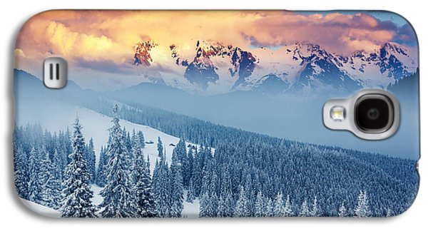 Travel Galaxy S4 Case - Fantastic Winter Landscape. Dramatic by Creative Travel Projects
