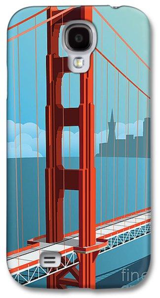 International Travel Galaxy S4 Case - Golden Gate Bridge by Nikola Knezevic