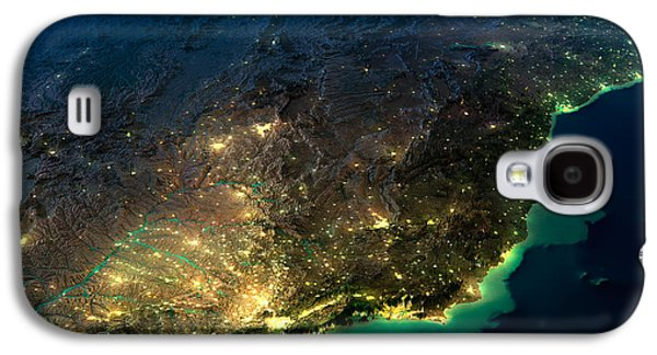 International Travel Galaxy S4 Case - Highly Detailed Earth, Illuminated By by Anton Balazh