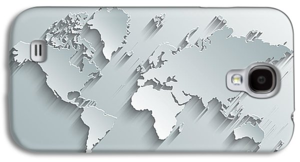 International Travel Galaxy S4 Case - Image Of A Vector World Map by Juliann
