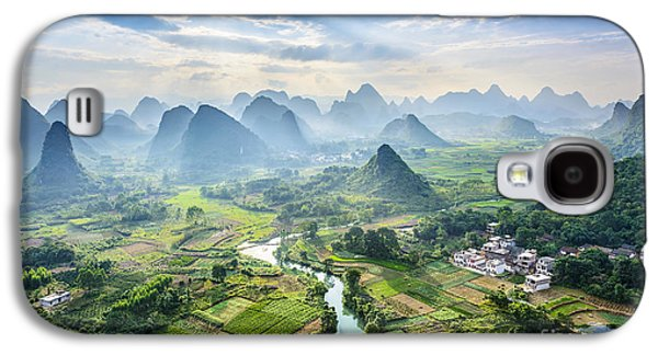 International Travel Galaxy S4 Case - Landscape Of Guilin, Li River And Karst by Aphotostory