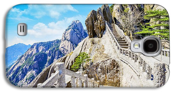 International Travel Galaxy S4 Case - Landscape Of Huangshan Yellow by Aphotostory