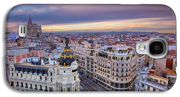 International Travel Galaxy S4 Case - Madrid. Cityscape Image Of Madrid by Rudy Balasko