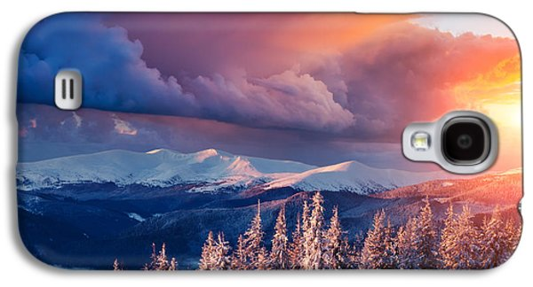 Travel Galaxy S4 Case - Majestic Landscape Glowing By Sunlight by Creative Travel Projects