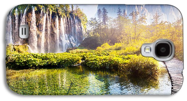 Travel Galaxy S4 Case - Majestic View On Waterfall With by Creative Travel Projects