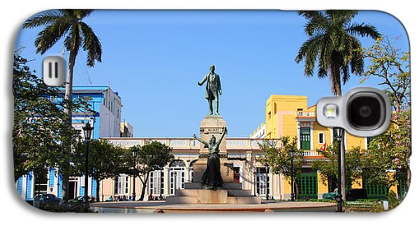 Old Town Galaxy S4 Case - Matanzas, Cuba - Main Square. Palm by Tupungato