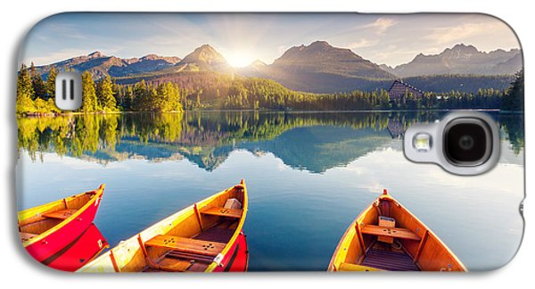 Travel Galaxy S4 Case - Mountain Lake In National Park High by Creative Travel Projects