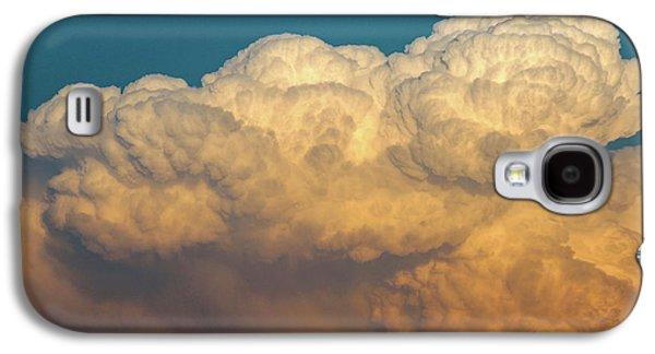 Nebraskasc Galaxy S4 Case - Nebraska Sunset Thunderheads 053 by NebraskaSC