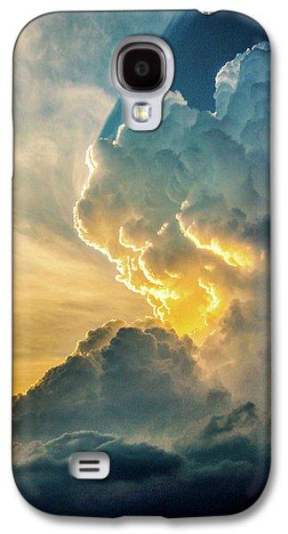 Nebraskasc Galaxy S4 Case - Nebraska Sunset Thunderheads 075 by NebraskaSC