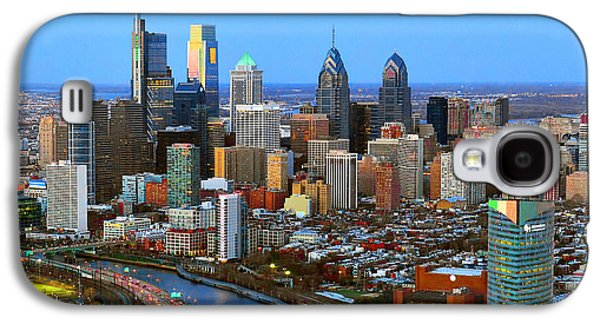 Downtown Galaxy S4 Case - Philadelphia Skyline At Dusk 2018 by Jon Holiday