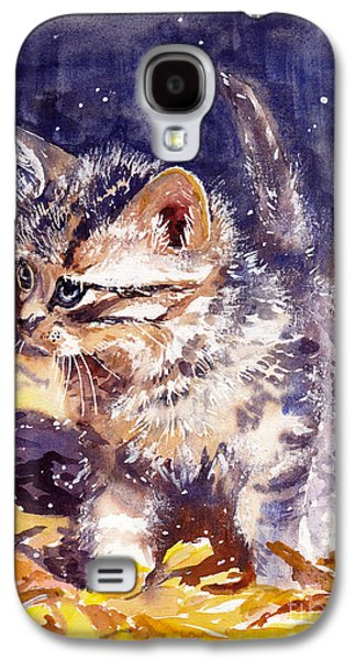 Fairy Galaxy S4 Case - Pussy On A Yellow Blanket by Suzann's Art