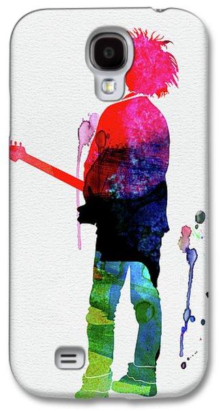 Robert Smith Music Galaxy S4 Case - Robert Smith Watercolor by Naxart Studio