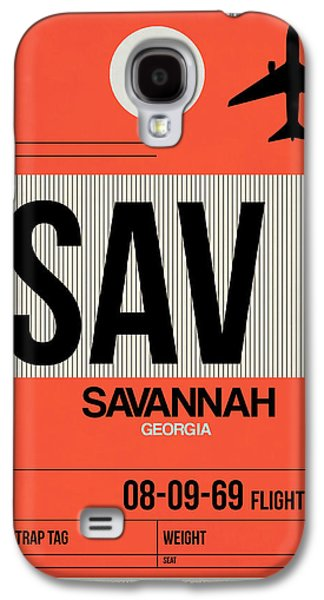 Travel Galaxy S4 Case - Sav Savannah Luggage Tag I by Naxart Studio