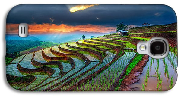 Travel Galaxy S4 Case - Terraced Paddy Field In Mae-jam Village by Travel Mania