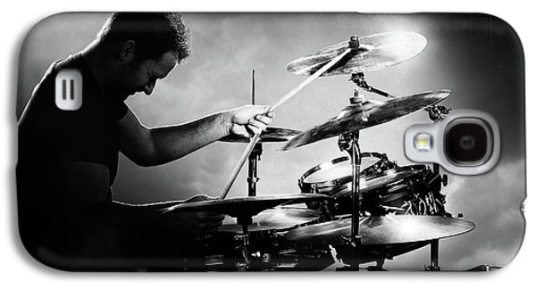 Rock And Roll Galaxy S4 Case - The Drummer by Johan Swanepoel