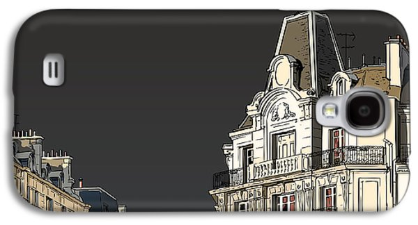Old Town Galaxy S4 Case - Vector Illustration Of Facades In Paris by Isaxar