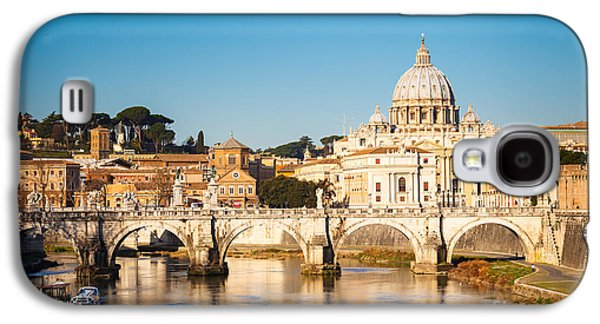 International Travel Galaxy S4 Case - View At Tiber And St. Peters Cathedral by S.borisov