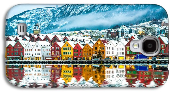 International Travel Galaxy S4 Case - View On Bruges. Bergen Norway by Tatyana Vyc