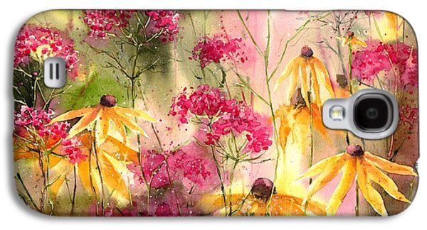 Orchid Galaxy S4 Case - Yellow Ballerinas by Suzann's Art