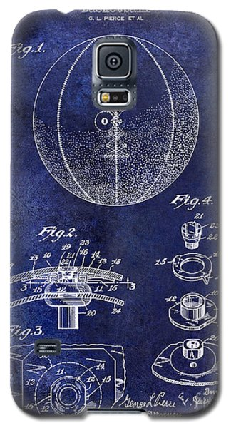 1927 Basketball Patent Drawing Blue Galaxy S5 Case