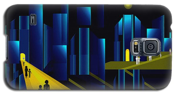 955 -  Moonlit City    Galaxy S5 Case by Irmgard Schoendorf Welch