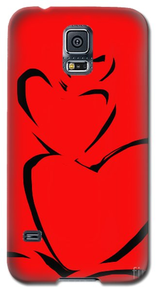 Galaxy S5 Case featuring the painting  A Stack Of Hearts by Go Van Kampen