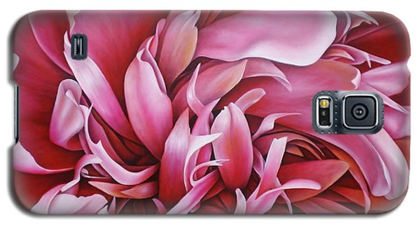 Galaxy S5 Case featuring the painting  Abstract Peony by Paula L