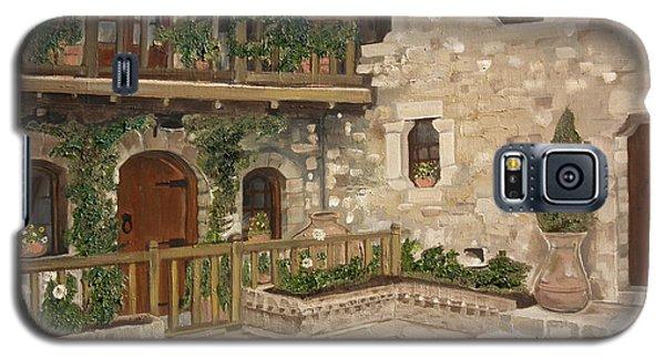 Greek Courtyard - Agiou Stefanou Monastery -balcony Galaxy S5 Case by Jan Dappen