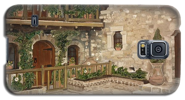 Greek Courtyard - Agiou Stefanou Monastery -balcony Galaxy S5 Case