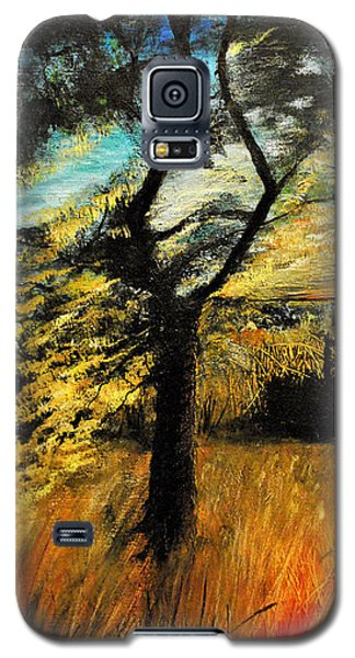 Galaxy S5 Case featuring the painting  Autumn Tree by Maja Sokolowska