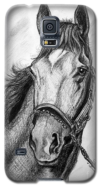 Galaxy S5 Case featuring the drawing  Barbaro by Patrice Torrillo
