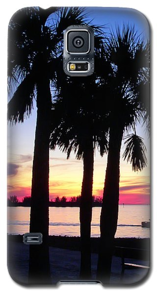 Galaxy S5 Case featuring the photograph  Beach Sunset by Aimee L Maher Photography and Art Visit ALMGallerydotcom