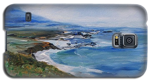 Galaxy S5 Case featuring the painting  Big Sur Coastline by Eric  Schiabor