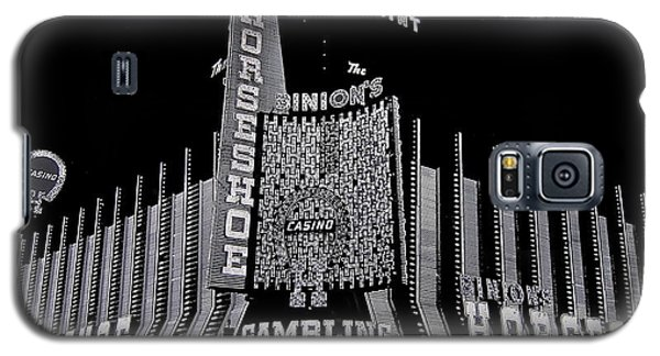 Binion's Horseshoe Casino Exterior Casino Center Las Vegas Nevada 1979-2014 Galaxy S5 Case