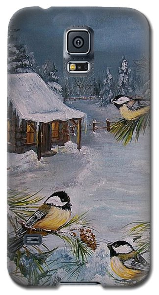 Black Capped   Chickadee's  Galaxy S5 Case by Sharon Duguay