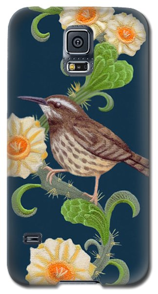 Galaxy S5 Case featuring the digital art  Cactus Wren by Walter Colvin