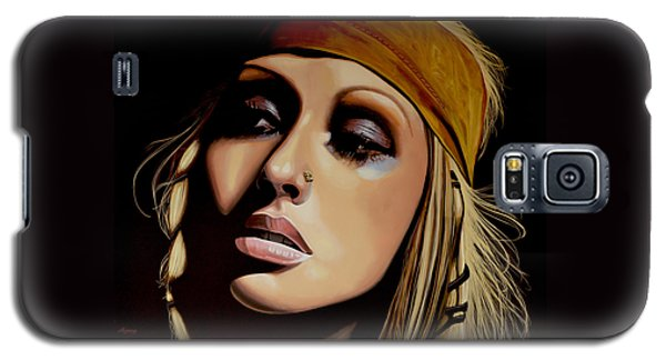 Rhythm And Blues Galaxy S5 Case -  Christina Aguilera Painting by Paul Meijering
