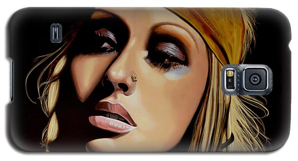 Christina Aguilera Painting Galaxy S5 Case by Paul Meijering